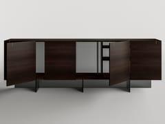 Madia in legno e vetro con ante a battente e ante scorrevoliMAJOR - T.D. TONELLI DESIGN