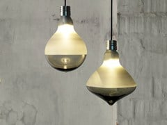 Lampada a sospensione a luce diretta in vetro satinatoMAKEUP | Lampada a sospensione - KARMAN
