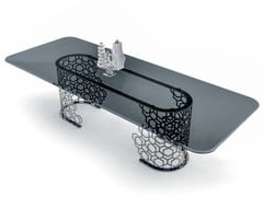 Tavolo rettangolare in cristallo MANFRED | Tavolo rettangolare - Loveluxe - Essence