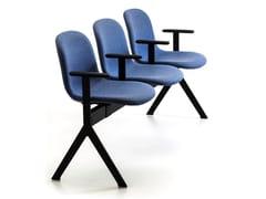 Seduta su barra a pavimento in tessuto con braccioli MÁNI FABRIC BE - Máni Fabric