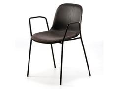 Sedia in frassino con braccioli con cuscino integrato MÁNI WOOD AR-4L | Sedia con cuscino integrato - Máni Wood