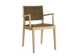 Sedia in faggio con braccioli con cuscino integrato con schienale apertoMANILA SO2107 - ANDREU WORLD