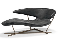 Chaise longue in pelle MANTA - ARKETIPO