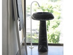 Lavabo freestanding rotondo in marmo BJHON 2 | Lavabo in marmo - Bjhon 2