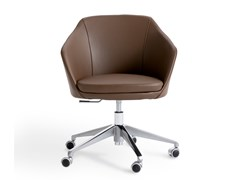 Sedia ufficio girevole in pelle con braccioliMARFA | Sedia ufficio - CAPPELLINI BY CAP DESIGN