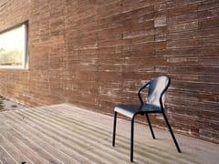 Sedia da giardino impilabile in metallo con braccioliMARIA - ADICO