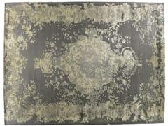 Tappeto fatto a mano rettangolare in lana e seta MARIE ANTOINETTE AGATA - Memories