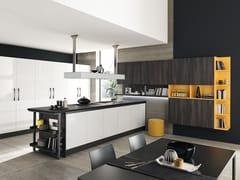 Cucina componibile in Fenix-NTM® con penisola MARINA 3.0 | Cucina senza maniglie -