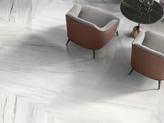 Impronta Ceramiche, MARMI DI IMPRONTA BIANCO LASA Pavimento/rivestimento in gres porcellanato effetto marmo