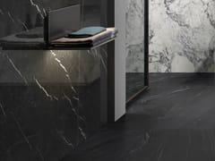 Impronta Ceramiche, MARMI DI IMPRONTA NERO MARQUINIA Pavimento/rivestimento in gres porcellanato effetto marmo