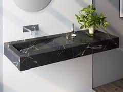 Lavabo rettangolare in marmo Nero Marquina con piano MARQUINA C3 -