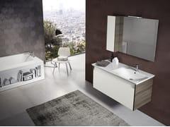 Mobile lavabo sospeso con specchioMARS 04 - BMT
