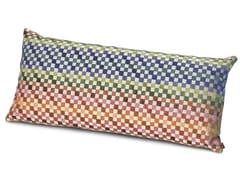 Cuscino in velluto jacquard a micro scacchiMASEKO | Cuscino rettangolare - MISSONI HOME