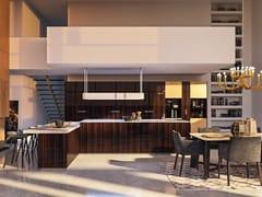Cucina componibile in gres porcellanato con isola MATERIA - GOLD EDITION -