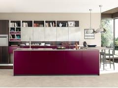 Cucina componibile in Fenix-NTM® con penisola MATERIA | Cucina con penisola -