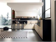 Cucina componibile lineare in Fenix-NTM® MATERIA | Cucina lineare -