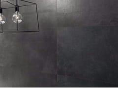 Pavimento/rivestimento in gres porcellanato effetto pietra MATERIE HIGH-TECH - LIGNITE - MATERIE HIGH TECH