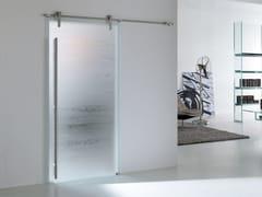 Porta scorrevole in vetroMATERIK STEEL - BERTOLOTTO