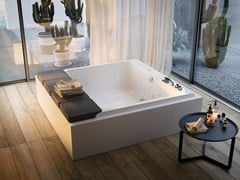 Vasche Da Bagno Angolari Glass : Vasca da bagno idromassaggio in acrilico mawi glass