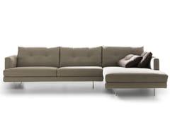 Divano componibile in tessuto con chaise longueMAXIME | Divano con chaise longue - VALENTINI