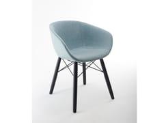 Sedia in tessuto in stile moderno con braccioliMAYA OMC IRON UP | Sedia in tessuto - MATERIA