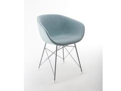 Sedia in tessuto in stile modernoMAYA TRC UP | Sedia in tessuto - MATERIA