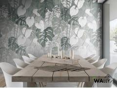 Carta da parati ignifuga lavabile tropicale in tessuto non tessutoMAYA - WALLYART