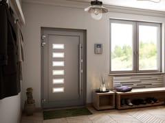 Porta d'ingresso in alluminio con pannelli in vetro MB-86SI | Porta d'ingresso con pannelli in vetro - MB