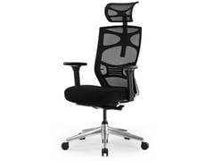Sedia ufficio girevole in rete con poggiatestaMC-1053E - UE FURNITURE CO.