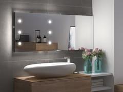 UNICA by Cantoni, MDE CONTRACT B120.2 Specchio rettangolare con illuminazione integrata da parete