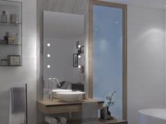 UNICA by Cantoni, MDE CONTRACT B70.6 Specchio rettangolare con illuminazione integrata da parete