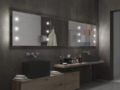 UNICA by Cantoni, MDE CONTRACT B80.1 Specchio rettangolare con illuminazione integrata da parete