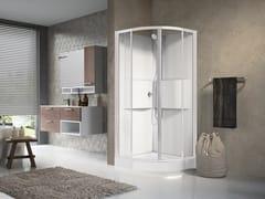 Box doccia multifunzione semicircolare con porta scorrevole MEDIA 2.0 R90 - Media 2.0