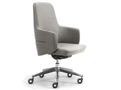 Poltrona ufficio direzionale ad altezza regolabile in lana con braccioliOPERA | Poltrona ufficio direzionale con schienale medio - LEYFORM