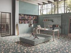 Ergon, MEDLEY GREEN Pavimento/rivestimento in gres porcellanato effetto terrazzo veneziano