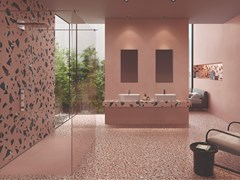Pavimento/rivestimento in gres porcellanato effetto terrazzo venezianoMEDLEY PINK - ERGON BY EMILGROUP