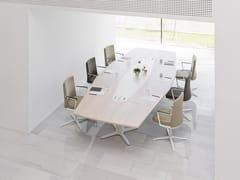 Tavolo da riunione ad altezza regolabile rettangolare in melaminaPOWER | Tavolo da riunione - ACTIU