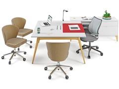 Tavolo da riunione in legno con sistema passacaviACCADEMIA | Tavolo da riunione - CIDER