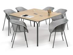 Tavolo da riunione quadrato con sistema passacaviBENDED | Tavolo da riunione - CIDER