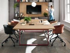 Tavolo da riunione rettangolare in legnoPIGRECO LOOP | Tavolo da riunione - MARTEX
