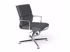 Sedia ufficio operativa ad altezza regolabile girevole con braccioli MEETINGFRAME 52 SOFT - 484 - Frame 52 / Frame 52 Soft