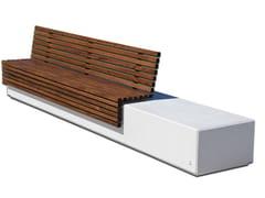 Calzolari, MEGA LITHOS Panchina con schienale in calcestruzzo armato e legno