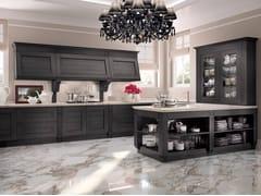 Cucina componibile in legno impiallacciato MELOGRANO CLASSIC CK2 -