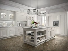 Cucina componibile in legno impiallacciato MELOGRANO CLASSIC CK3 -