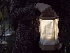 Lampada portatile a LED in betulla con batteria ricaricabile MEME 1 - MeMe
