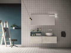 Mobile lavabo laccato con specchio MEMENTO COMP. 2 - Memento