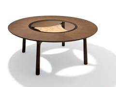 Tavolo da salotto rotondo in legno MEMOS | Tavolo in legno -