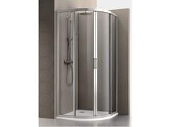 Box doccia semicircolare in alluminio e vetro con porta scorrevole MERCURIO | Box doccia semicircolare - Mercurio