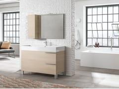 Mobile lavabo da terra con specchioMERCURY 01 - BMT