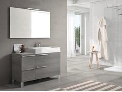 Mobile lavabo da terra con specchioMERCURY 06 - BMT